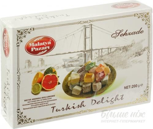 Рахат-лукум Malatya Pazari фруктовий аромат 200 г