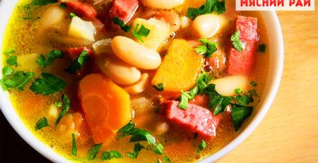 Суп с колбасой