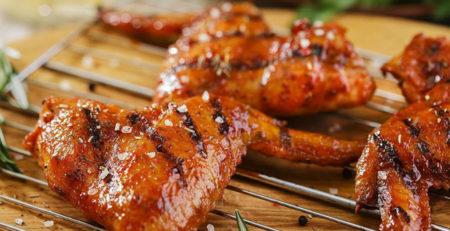 курячі крильця в медовому соусі