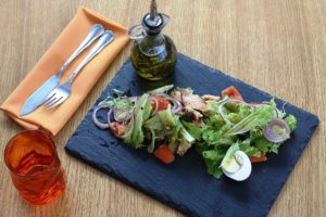 салат с куркою